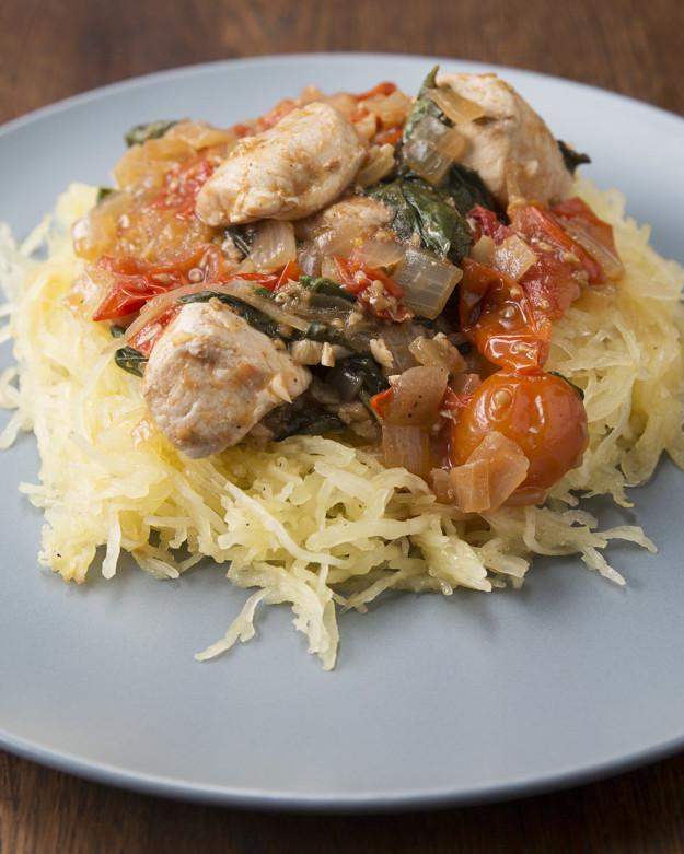 Lemon Chicken with Spaghetti Squash